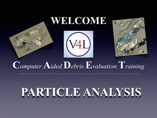 V4L CADET Particle Analysis Demo